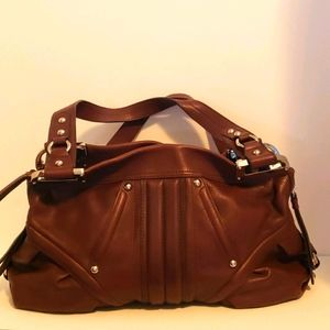 B. MAKOWSKY brown leather bag